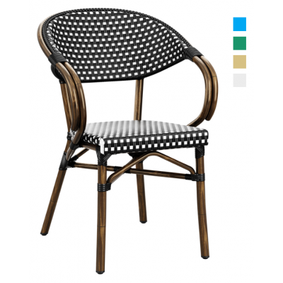 Check Outdoor Stacking Arm Chair