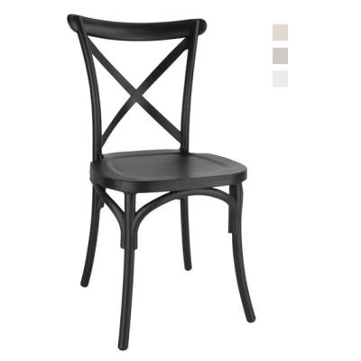 Cross Back Polypropylene Side Chair