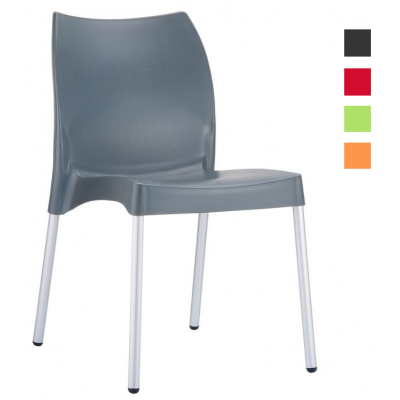 Evelyn Polypropylene Indoor or Outdoor Stacking Chair