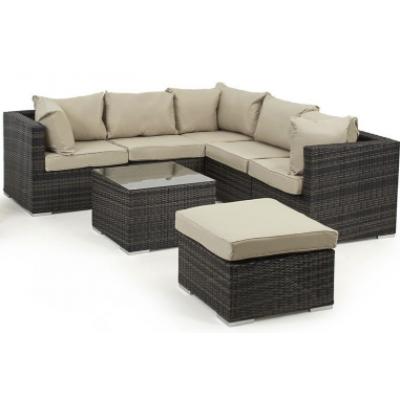 6 Seat Rattan Corner Sofa