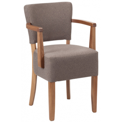 Paris Restaurant Fully Upholstered Arm Chair