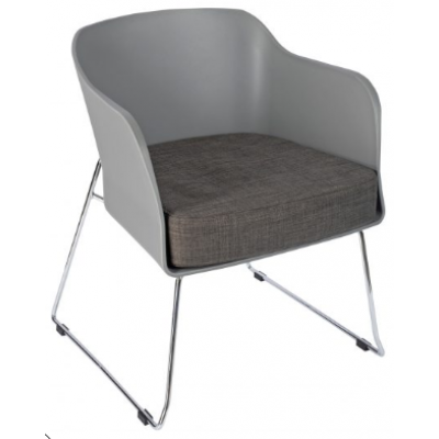 Turin Skid Frame Restaurant Tub Chair