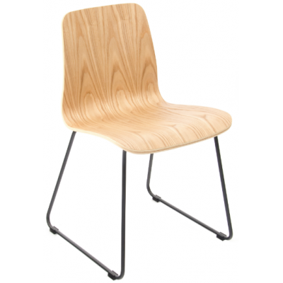 Hagen Cafe Chair with Skid Frame