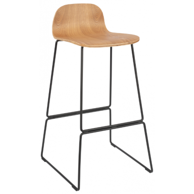 Hagen High Stool with Skid Frame