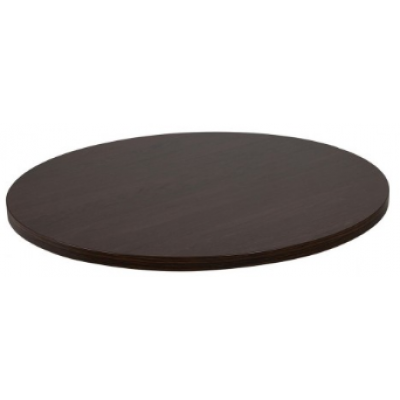 Black Round Laminate Table Top