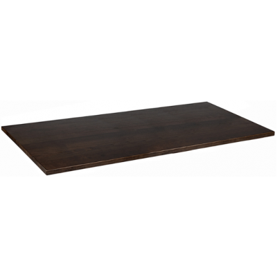 Solid Wood Walnut Stained Rectangular Top