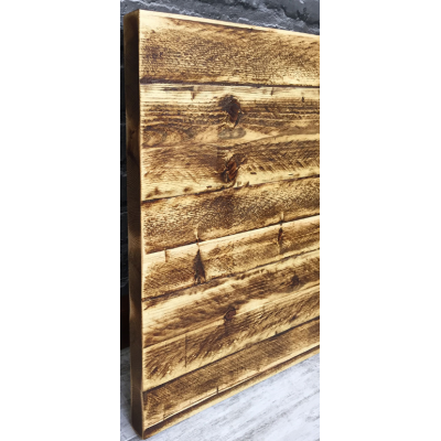 Rustic Wood Industrial Stripped Pine Round Top