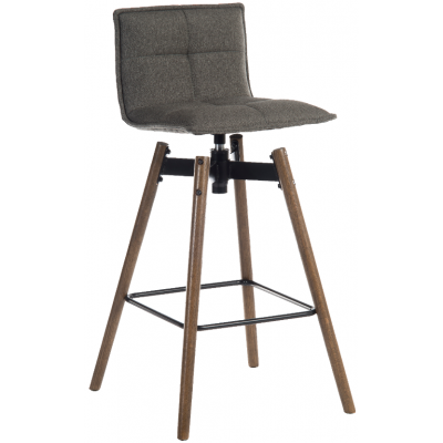 Amanda Swivel Upholstered High Stool