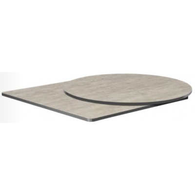Cement 'Textured' Laminate Indoor or Outdoor Table Top - pre drilled