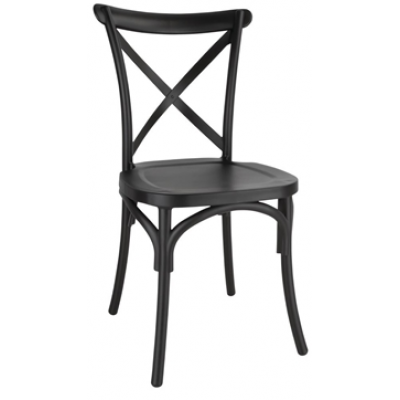 Cross Back Polypropylene Side Chair