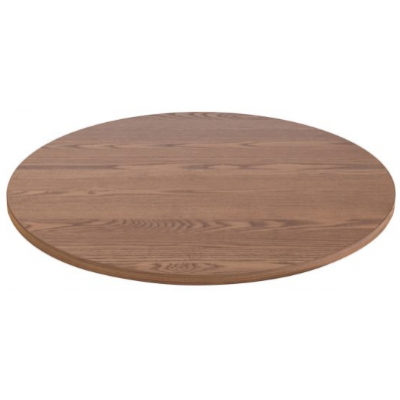 Solid Wood Oak Stained Round Table Top