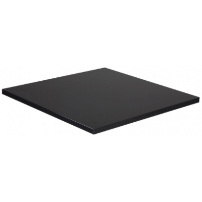 Black Square Laminate Table Top