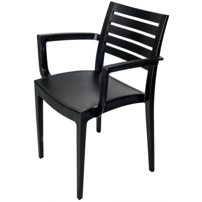 SIMONSTONE POLYPROPYLENE RESTAURANT Arm CHAIR