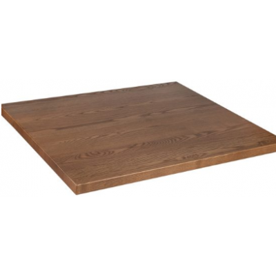 Solid Wood Oak Stained Square Top