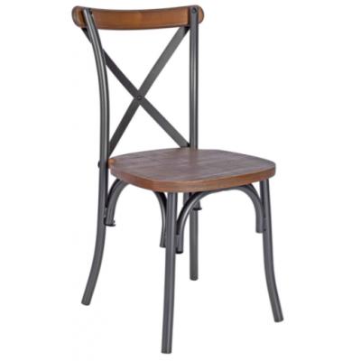 Koral Crossback Metal Side Chair