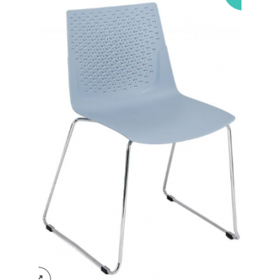 Faro Polypropylene Skid Bistro Chair
