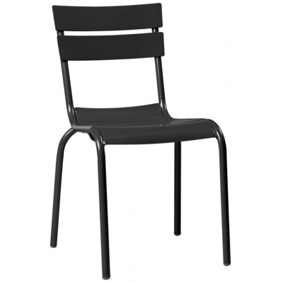 Julias Black Metal Indoor or Outdoor Chair