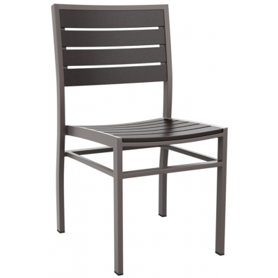 Sonia Black Faux Wood Outdoor Restaurant Chair