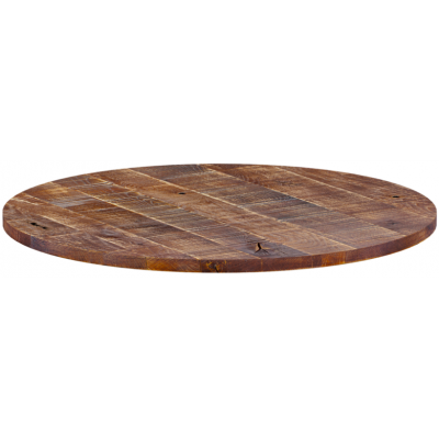 Rustic Solid Oak 32mm Round Table Top