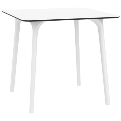 Lara White 800mm Square Indoor or Outdoor Table