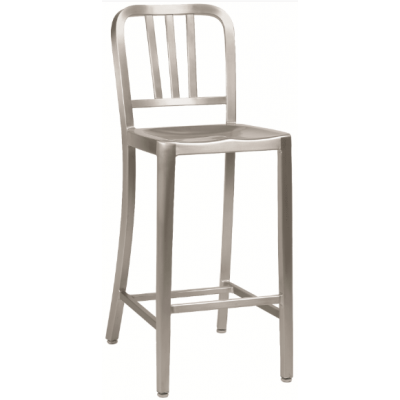 Emeco Inspired Navy Indoor or Outdoor High Stool