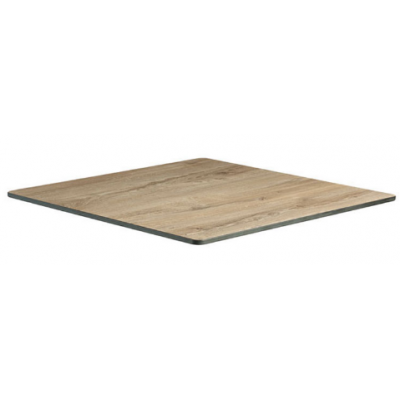 Aged Wood Effect Indoor or Outdoor Laminate Table Top - pre drilled