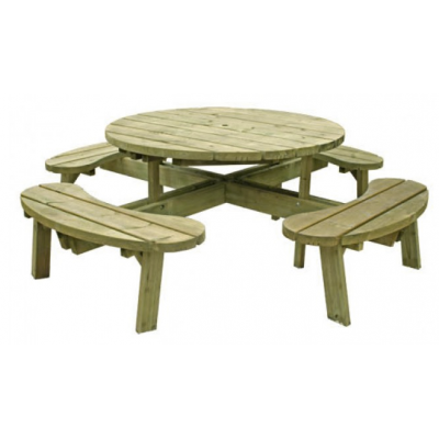 Large Round Picnic Table