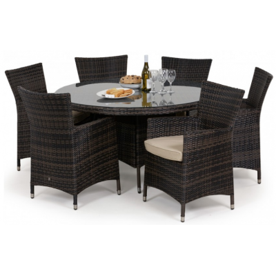New York 6 Seat Round Dining Set