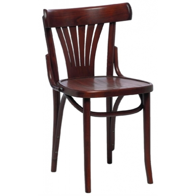 Ramsey Walnut Fan Back Side Chair
