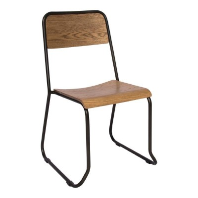Lucca Oak Stacking Bistro Chair