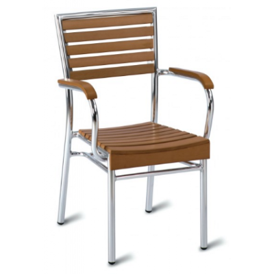 Monaco Outdoor Faux Wood Armchair