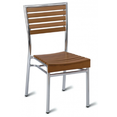 Monaco Outdoor Faux Wood Side Chair
