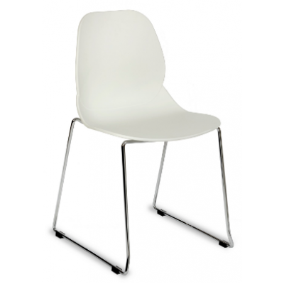 Denia Plastic Stacking Sled Base Chair