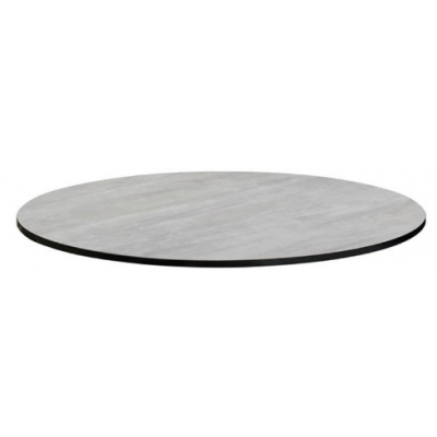 Cement Look Round Laminate Indoor or Outdoor Table Top - pre drilled