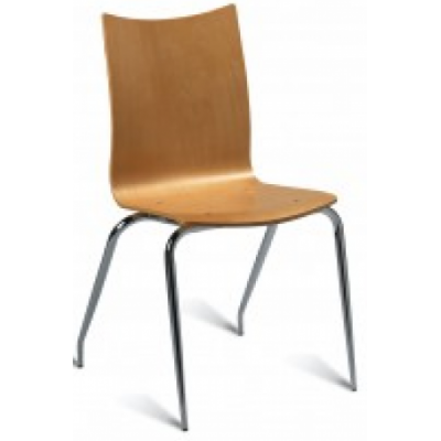 Avila Maple Stacking Bistro Chair