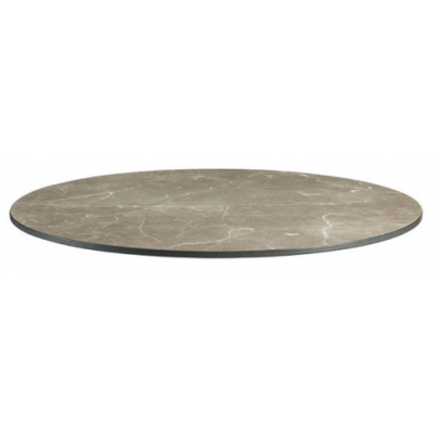 Marble Effect Round Laminate Table Top - pre drilled