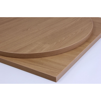 Round Oak Laminate Top