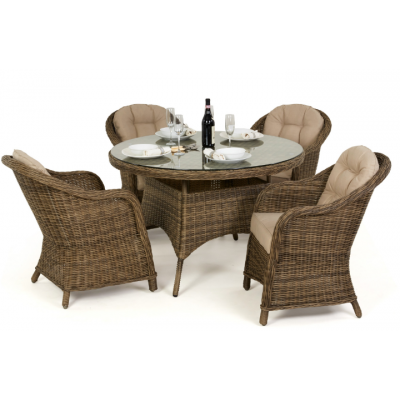 Andre 4 Seat Round Dining Set