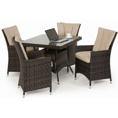 Jose 4 Seat Square Dining Set