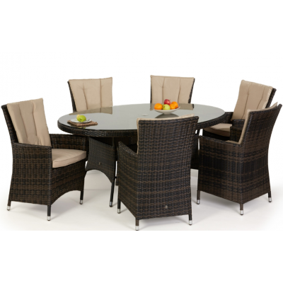 Ovar 6 Seat Oval Dining Set