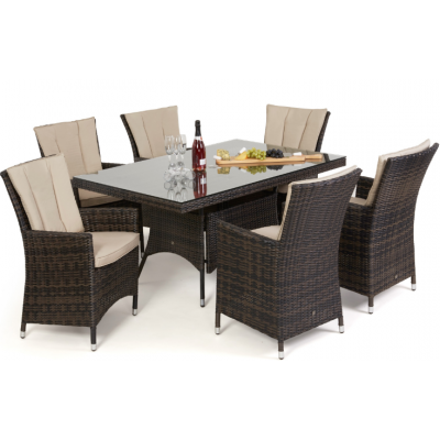 Campo 6 Seat Rectangle Dining Set