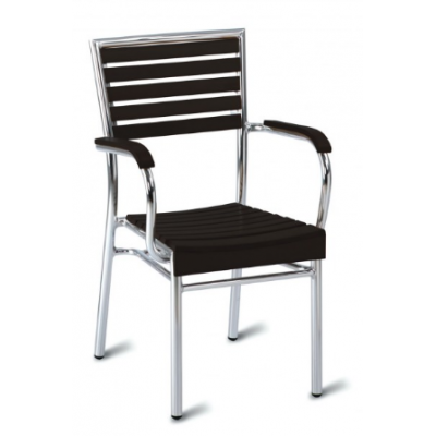 Monaco Black Outdoor Bistro Armchair
