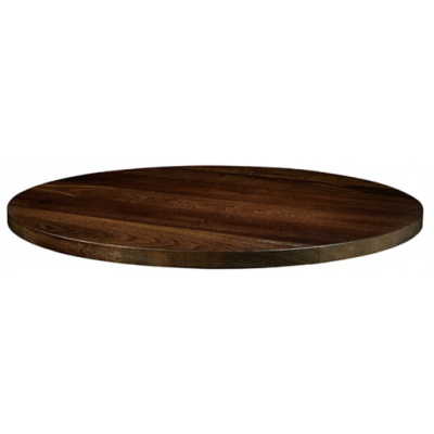 Solid Wood Round Dark Walnut Top
