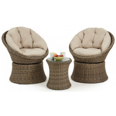 Sambrosa 3 Piece Swivel Lounge Set