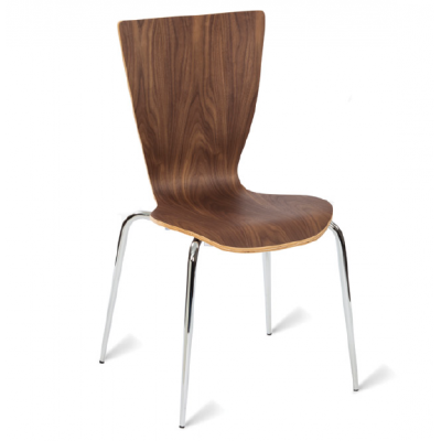 Vale Walnut Stacking Bistro Chair