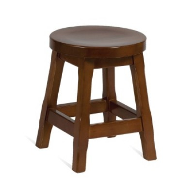 Traditional Wood Low Stool