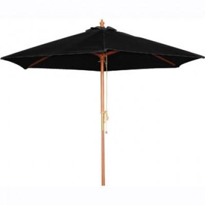 Round Black 2.5m Parasol