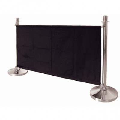Black Canvas Barrier 1430mm Wide