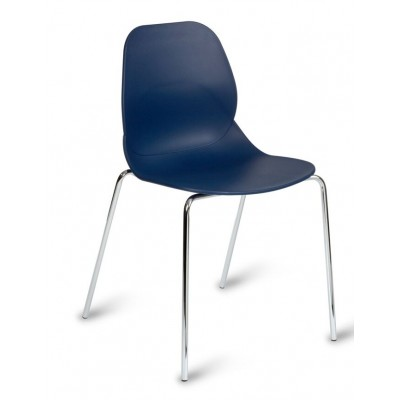 Denia Plastic 4 Leg Stacking Bistro Chair