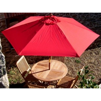 Outdoor Restaurant Teak Round Folding Set